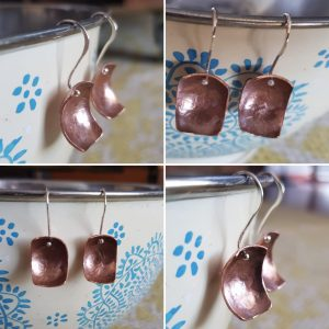 Hanging Square Shell earrings