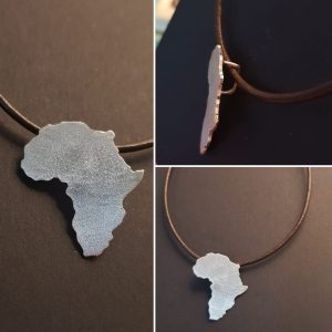 Africa shaped pendant