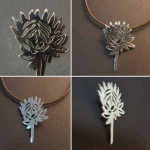 Protea shaped pendant
